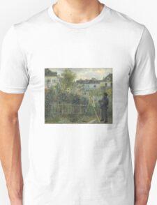 Claude Monet - Monet Painting in his Garden At Argenteuil  Unisex T-Shirt
