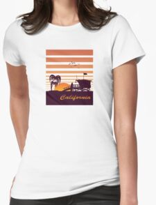 California surfing Womens Fitted T-Shirt