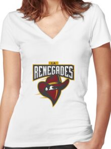 Team LA Renegades logo Women's Fitted V-Neck T-Shirt
