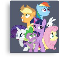 Main ponies shaking Canvas Print