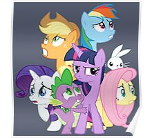 Main ponies shaking Poster