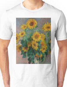 Claude Monet - Sunflowers Unisex T-Shirt