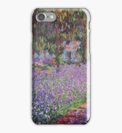 Claude Monet  -The Artists Garden At Giverny  iPhone Case/Skin