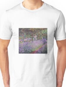 Claude Monet  -The Artists Garden At Giverny  Unisex T-Shirt