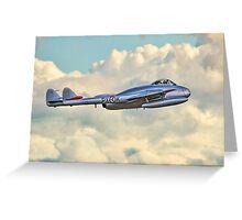 DH100 Vampire FB.6 PX-K LN-DHY Greeting Card