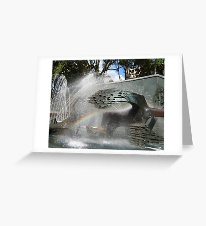 Newcastle (NSW) - Civic Fountain Rainbow Greeting Card