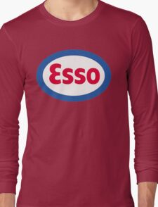 Esso Racing Oil Vintage Lubricant Long Sleeve T-Shirt