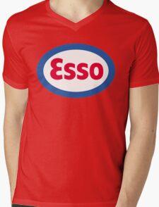 Esso Racing Oil Vintage Lubricant Mens V-Neck T-Shirt