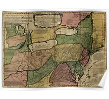 American Revolutionary War Era Maps 1750-1786 040 A general map of the middle British colonies in America 10 Poster