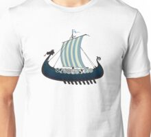 Blue viking ship Unisex T-Shirt