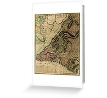 American Revolutionary War Era Maps 1750-1786 222 A plan of the city of New York & its environs to Greenwich on the North or Hudsons River and to Crown Point Greeting Card