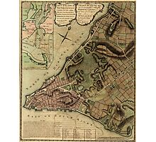 American Revolutionary War Era Maps 1750-1786 222 A plan of the city of New York & its environs to Greenwich on the North or Hudsons River and to Crown Point Photographic Print