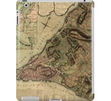 American Revolutionary War Era Maps 1750-1786 222 A plan of the city of New York & its environs to Greenwich on the North or Hudsons River and to Crown Point iPad Case/Skin