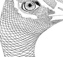 Peacock in linework Sticker