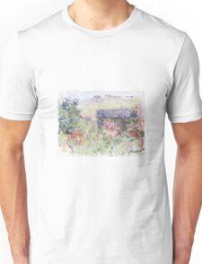 Claude Monet - The House Through the Roses Unisex T-Shirt