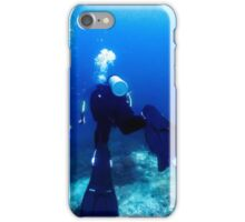 Swimming with Scuba Divers iPhone Case/Skin