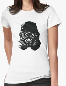 Gas mask skull Womens Fitted T-Shirt