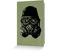 Gas mask skull Greeting Card