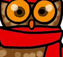 Cute winter owl bird Sticker