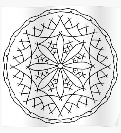 Mountain Flower Mandala Poster