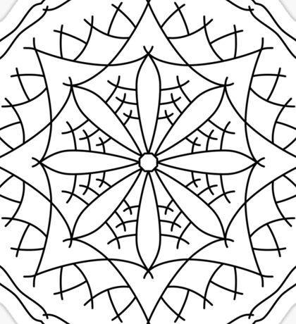 Mountain Flower Mandala Sticker