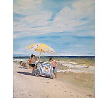 Oak Island Beach Scene Photographic Print