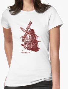 Old Holland windmill Womens Fitted T-Shirt