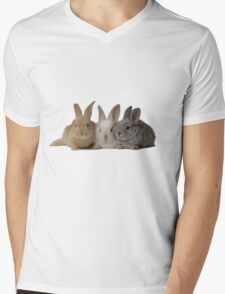 3-Bunnies Mens V-Neck T-Shirt