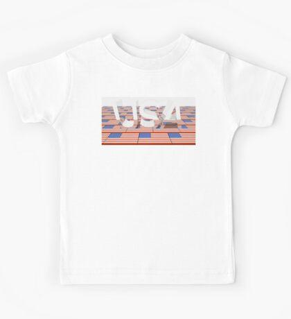 illustration US flag Kids Tee
