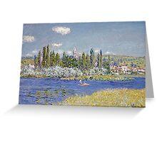 Claude Monet - Vetheuil Greeting Card