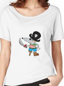 Fun pirate mouse cartoon Women's Relaxed Fit T-Shirt