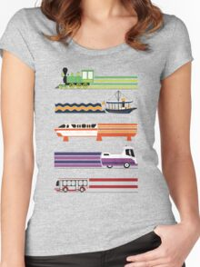 Transit System Women's Fitted Scoop T-Shirt