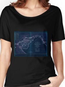 American Revolutionary War Era Maps 1750-1786 006 A chart of Delaware Bay and River  containing a full and exact description of the shores creeks harbours Inverted Women's Relaxed Fit T-Shirt