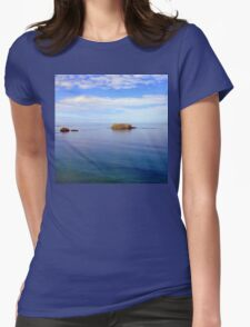 Rock and Water Landscape Womens Fitted T-Shirt