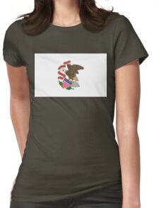 Illinois state flag Womens Fitted T-Shirt