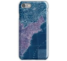 American Revolutionary War Era Maps 1750-1786 949 The United States of America with the British possessions of Canada Nova Scotia & of Newfoundland divided Inverted iPhone Case/Skin