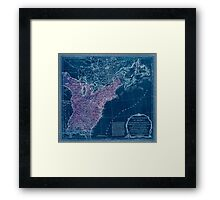 American Revolutionary War Era Maps 1750-1786 949 The United States of America with the British possessions of Canada Nova Scotia & of Newfoundland divided Inverted Framed Print