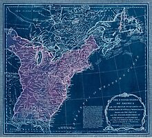 American Revolutionary War Era Maps 1750-1786 949 The United States of America with the British possessions of Canada Nova Scotia & of Newfoundland divided Inverted Photographic Print