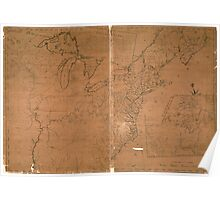 American Revolutionary War Era Maps 1750-1786 945 The United States according to the definitive treaty of peace signed at Paris Sept 3d 1783 Poster