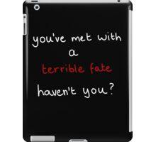 Legend of Zelda Majora's Mask (Creepypasta) - you've met with a terrible fate iPad Case/Skin