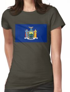 New York state flag Womens Fitted T-Shirt