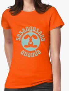 Sasangasana Ananda - Rabbit Bliss Womens Fitted T-Shirt