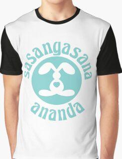 Sasangasana Ananda - Rabbit Bliss Graphic T-Shirt