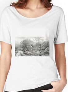 Early winter - 1869 - Currier & Ives Women's Relaxed Fit T-Shirt