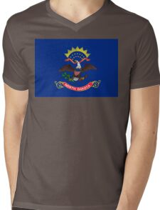 North Dakota state flag Mens V-Neck T-Shirt