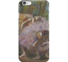 Edgar Degas - Dancers With Fans  iPhone Case/Skin