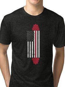 USA Weightlifting Flag Tri-blend T-Shirt