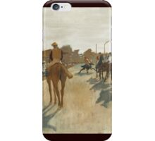 Edgar Degas - Race Horses Before The Stands   iPhone Case/Skin