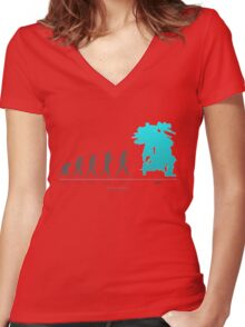 Xenoblade Chronicles X - Theory of Evolution Women's Fitted V-Neck T-Shirt
