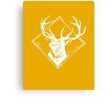 Stag white Canvas Print